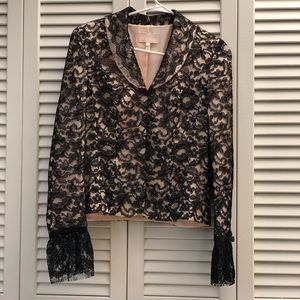 Escada Couture Alencon Lace  Jacket Blazer